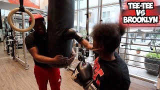 TRAINING TEETEE FOR HER BOXING MATCH !!! DESHAE LITTLE SISTER CALLED HER OUT !!