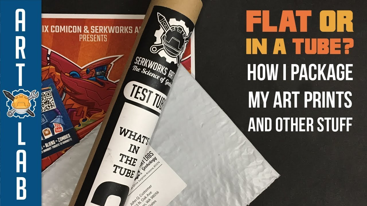 how to package your art prints flat or in tubes