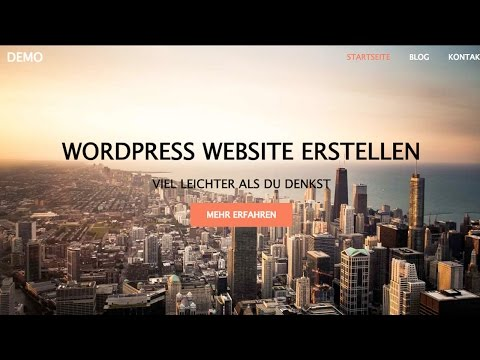 WordPress Website Erstellen – WordPress Tutorial DEUTSCH/GERMAN