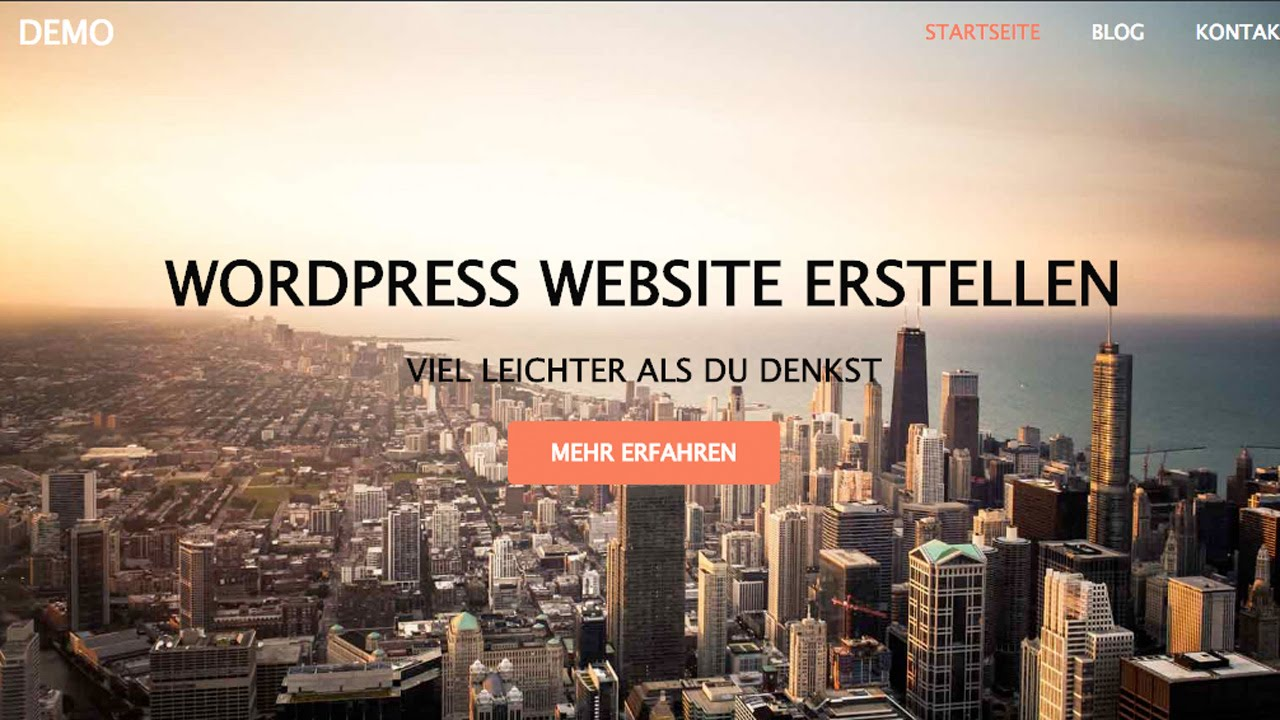 WordPress Website Erstellen - WordPress Tutorial DEUTSCH/GERMAN ...