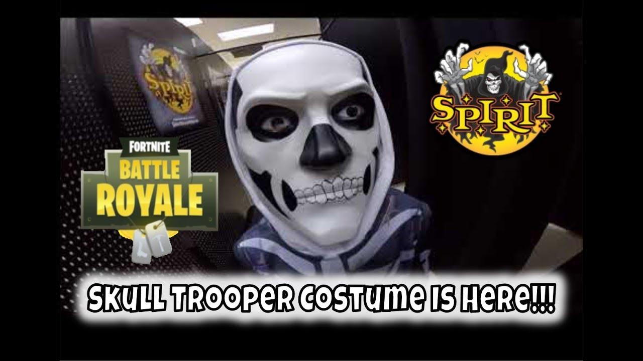 Skull Trooper Costume at Spirit Halloween!!!! | StewarTV
