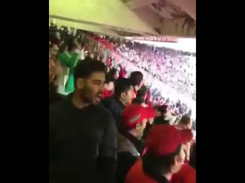 Iran 13 feb 18 people cheer Ali Karimi in football stadium P2 تشویق علی کریمی در ورزشگاه امروز