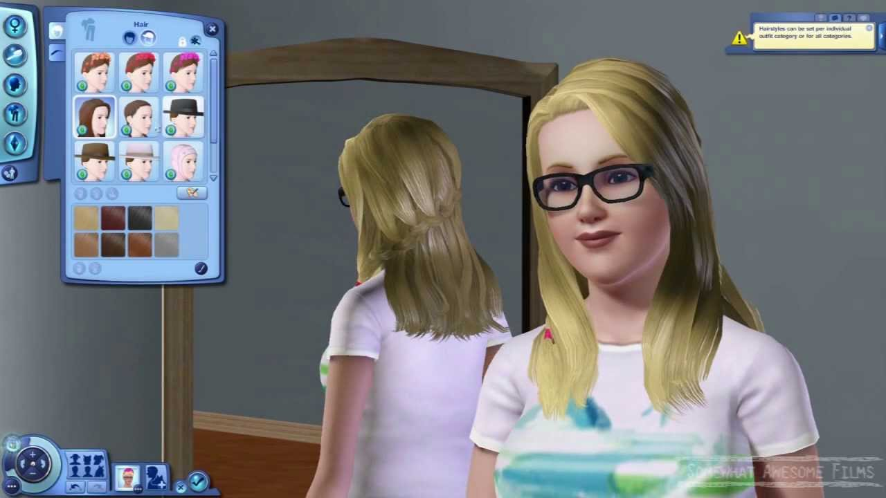 the sims 3 island paradise hairstyles and accessories - youtube