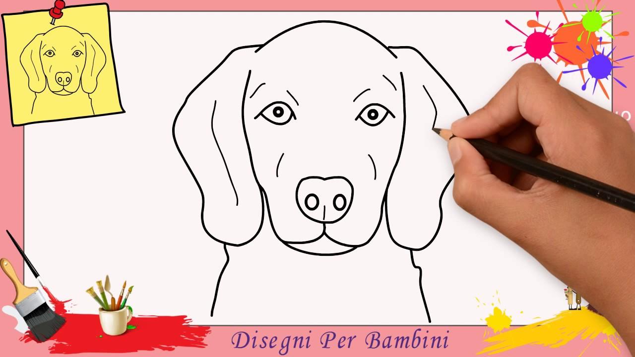 come disegnare un cane facile passo per passo per bambini