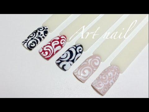 Дизайн ногтей с вензелями фото