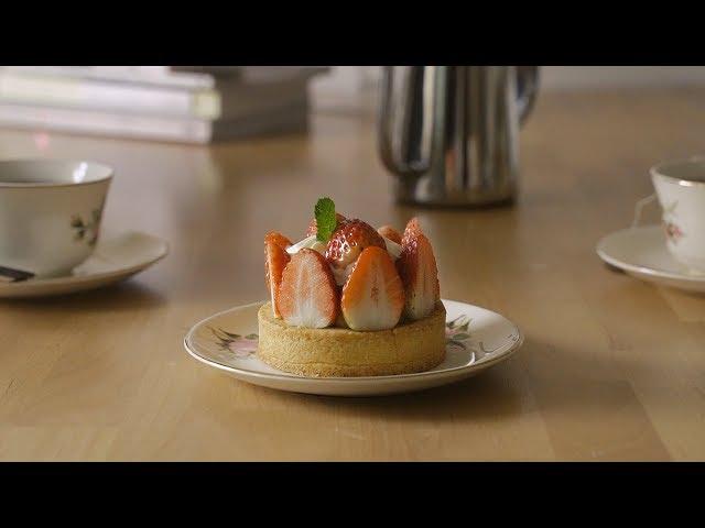 딸기타르트 : Fresh Strawberry Tart   Honeykki 꿀키