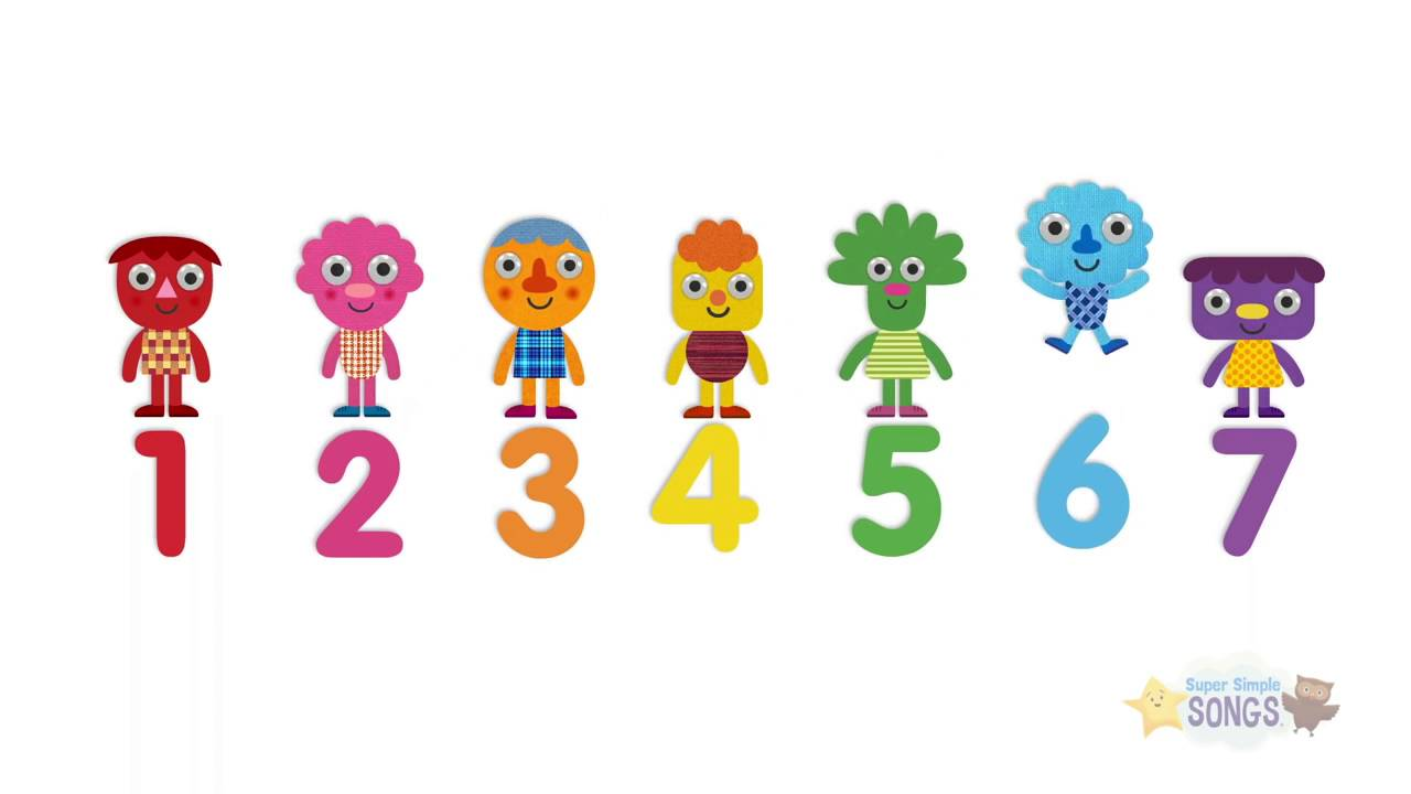 Seven Steps Numbers Song Super Simple Songs Youtube