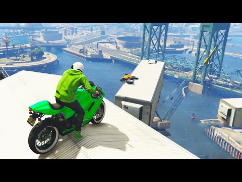 HARDCORE BIKE PARKOUR (GTA 5 Funny Moments)