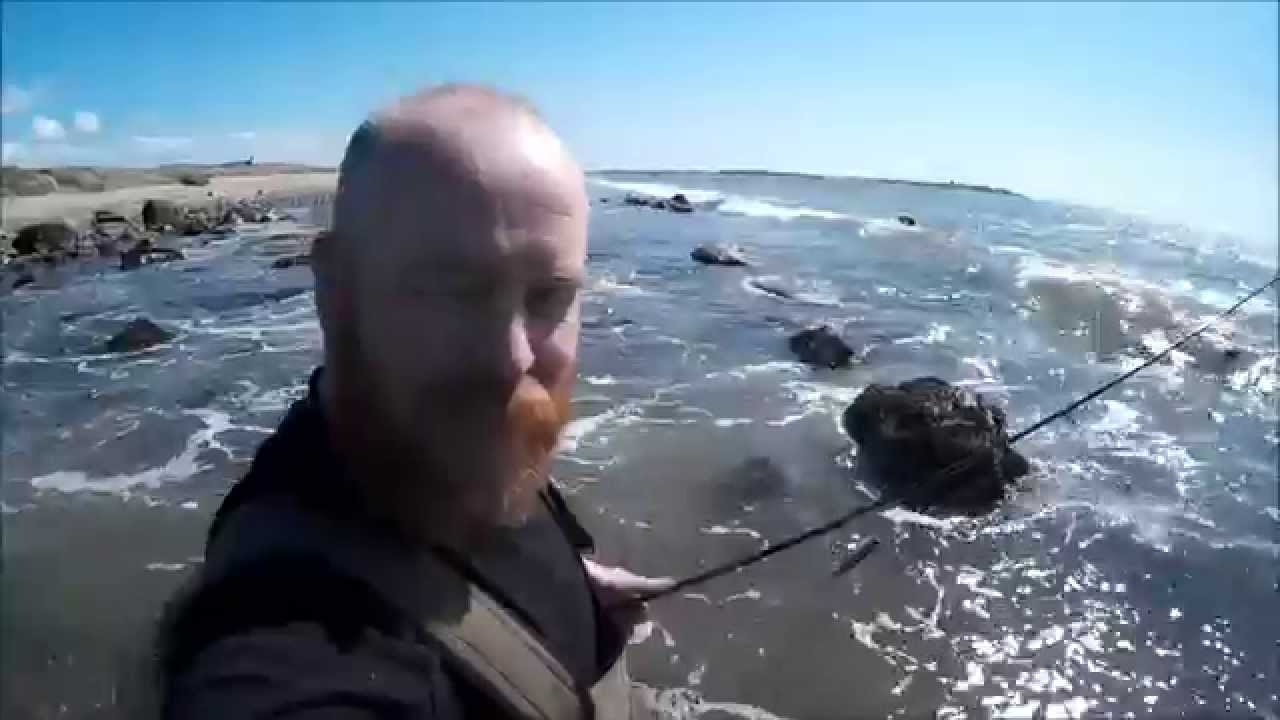 Lure fishing north wales nr shell island sj4000 youtube for Where to get a fishing license near me