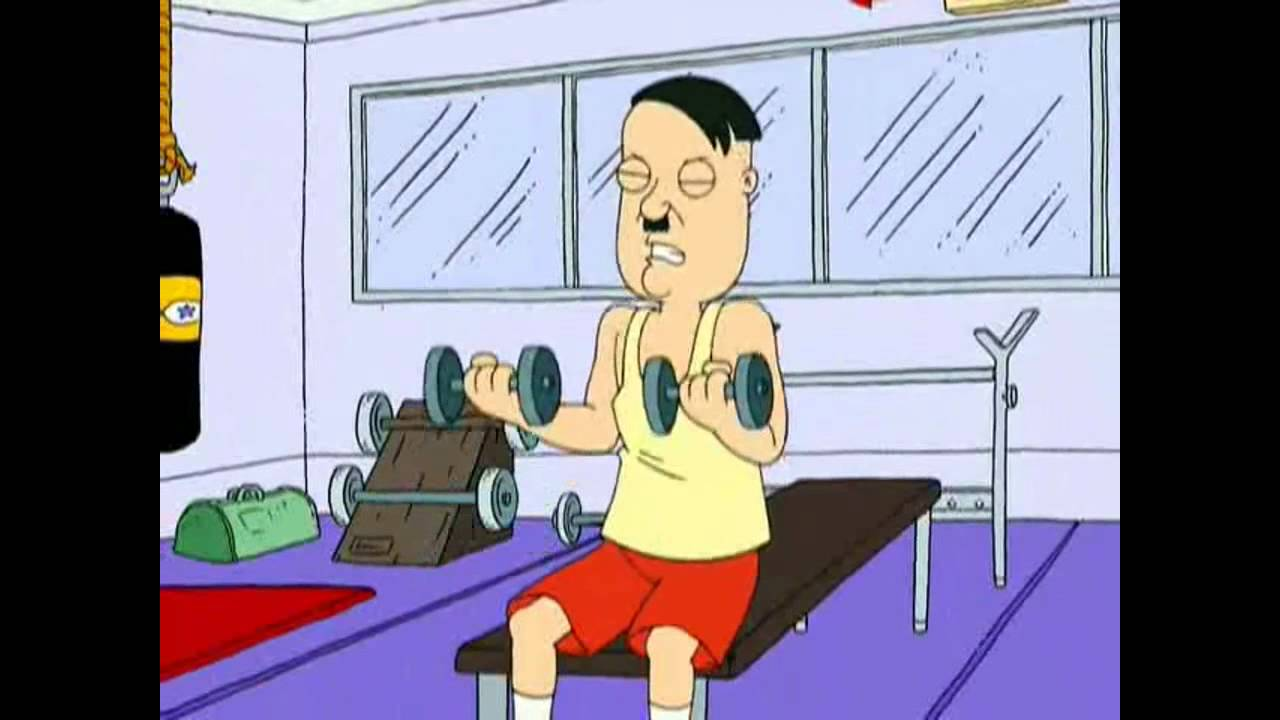 sketchtv family guy hitler quotdas gymquot youtube