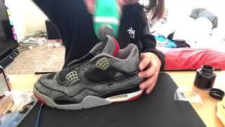 1999 Jordan 4 bred restoration/ tennis ball method