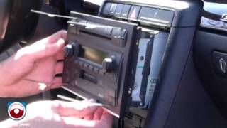 Radio Removal Audi A4 S4 2002-2006 with Symphony II Radio