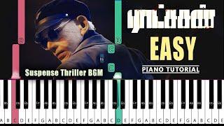 Ratsasan Psycho Thriller Bgm Easy Piano Tutorial   Ratsasan BGM Easy Piano Notes    Blacktunes Piano