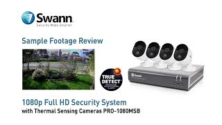 Swann 1080p Full HD Security Camera Sample CCTV Footage Thermal Sensing True Detect PRO-1080MSB