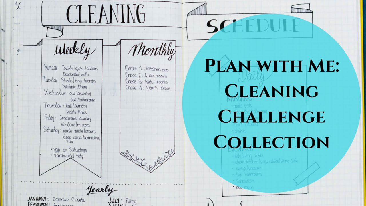 Creating A Cleaning Schedule Collection In My Bullet