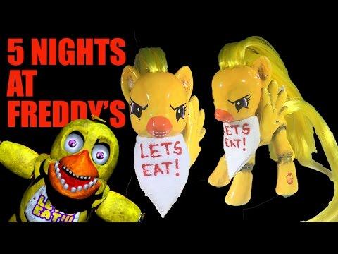 Custom MLP CHICA Five Nights At Freddy's My Little Pony FNAF Tutorial