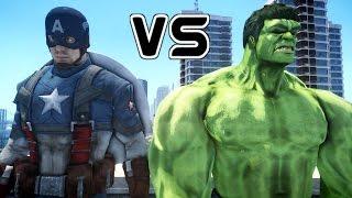 HULK VS CAPTAIN AMERICA - EPIC SUPERHEROES BATTLE