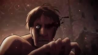 [attack on titan] Eren seals wall rose ( English dub )