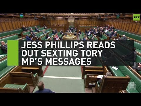 Jess Phillips reads out sexting Tory MP's messages
