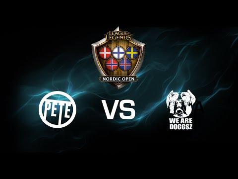 PETE vs. We Are Doggsz - Semi Final 1 - Game 2 - League of Legends Nordic Open