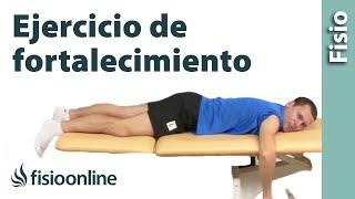 Músculos supraespinoso, infraespinoso y redondo menor. Ejercicio de fortalecimiento.