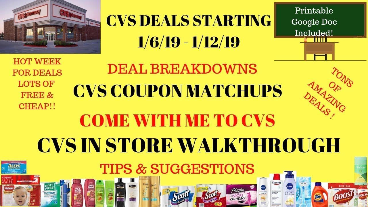 cvs deals starting 1  6  19
