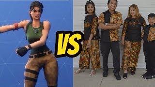 Fortnite Dance Challenge In Real Life (fr) Vlog de famille indonésienne