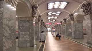Ride on the metro in St.Petersburg, Russia Part 1 of 2 Санкт-Петербург, Россия
