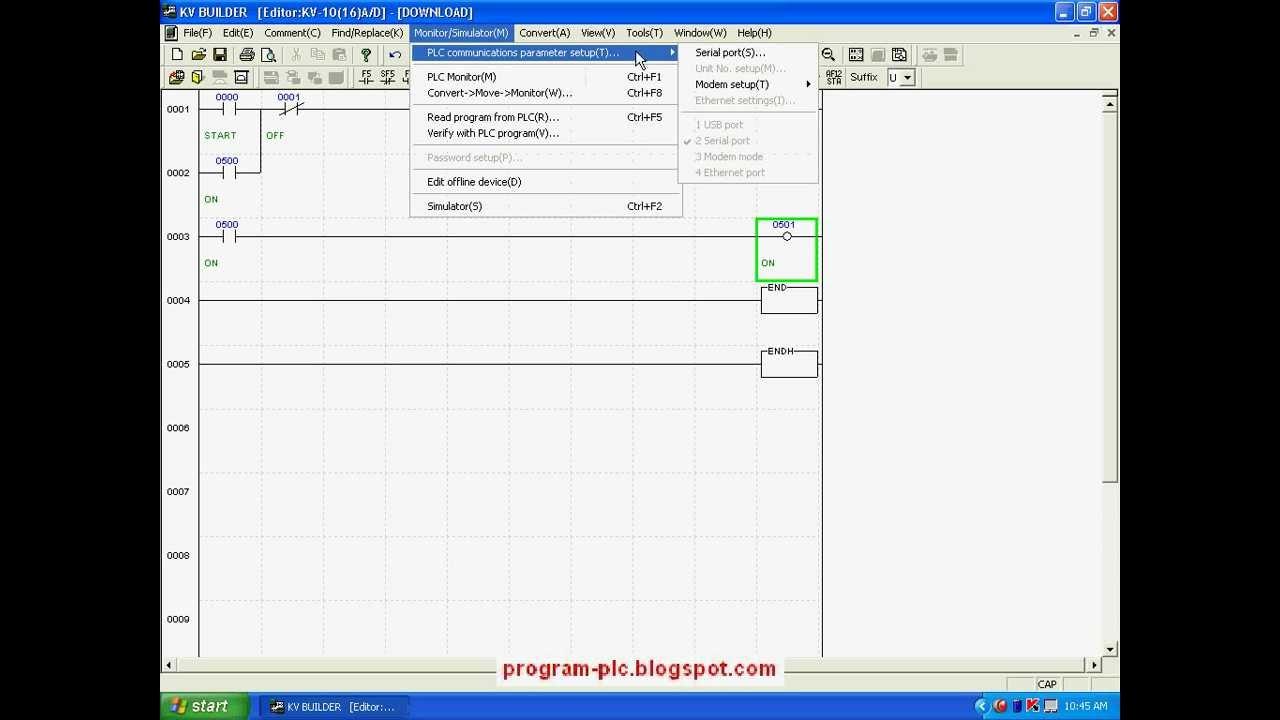Communication Settings for PLC Keyence on PC