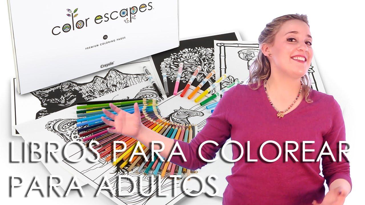 Crayola crea libros para colorear para adultos - YouTube