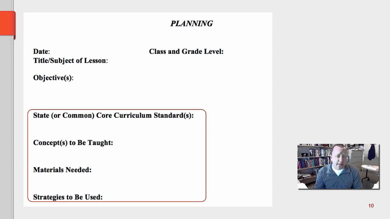 teaching lesson plan template