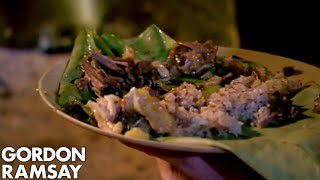 Gordon helps prepare a Nagaland curry and is blown away by the results.   #GordonRamsay #Cooking   Gordon Ramsay's Ultimate Cookery Course – http://amzn.to/2BzAud5 Subscribe for weekly cooking videos.   If you liked this clip check out the rest of Gordon's channels:  http://www.youtube.com/gordonramsay http://www.youtube.com/kitchennightmares http://www.youtube.com/thefword