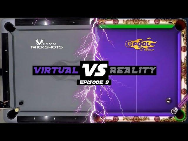 VIRTUAL VS REAL - 8-BALL POOL TRICKSHOTS - Ep 9!!!