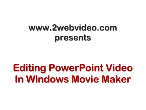 how to put youtube videos on movie maker