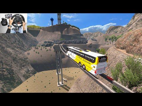 Most Terrifying Bridge.Bus Driver Don't Want To Cross | Bus Driving Euro Truck Simulator 2 Bus Mod