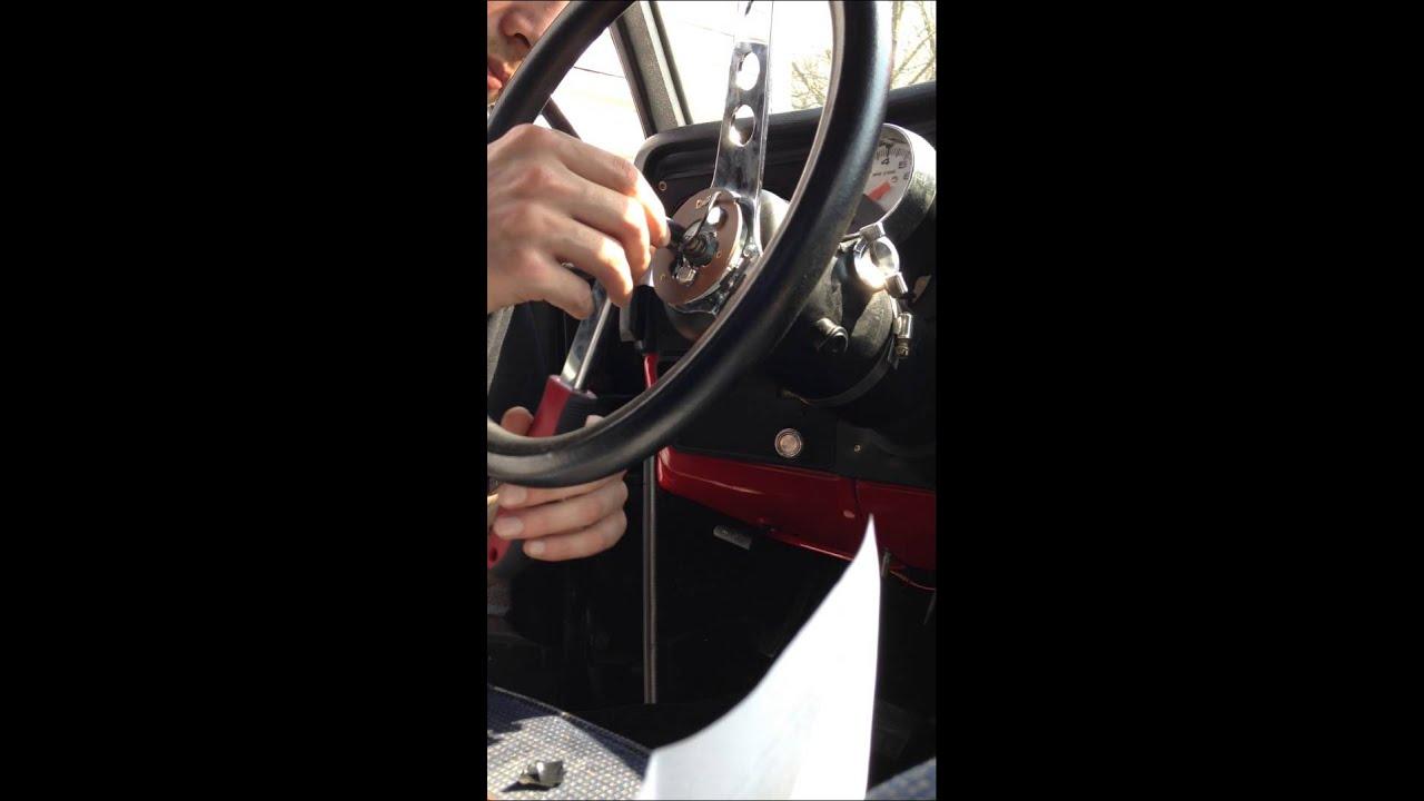 1978 GMC TRUCK STEER WHEEL INSTALL / HORN DOESNT WORK - YouTube
