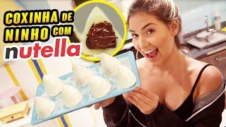 COMO FAZER A MELHOR COXINHA DE LEITE NINHO COM NUTELLA DO MUNDO?!!!!