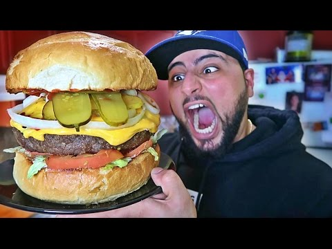 DIY GIANT CHEESEBURGER!!