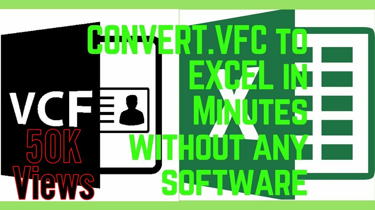 How to Convert  VFC File to Excel or  XLS without Need of any Software 2018  | Full Tutorial
