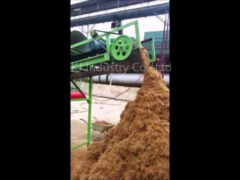 Palm EFB Shredder Working In Biomass Gasification Plant, East Of Malaysia
