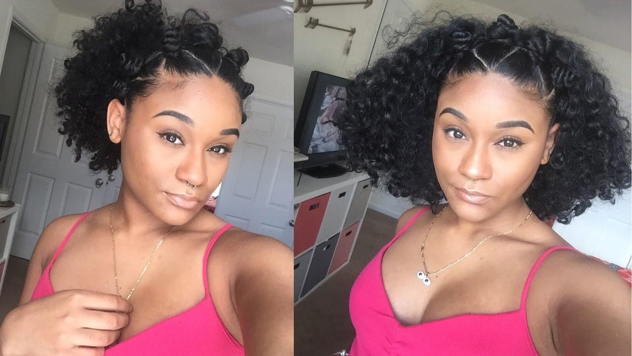 simple easy hairstyles | bantu knot crown