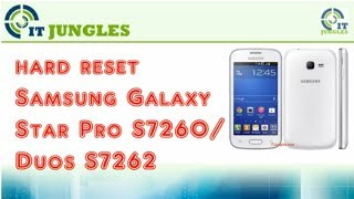 How to Hard Reset Samsung Galaxy Star Pro S7260 / Duos S7262