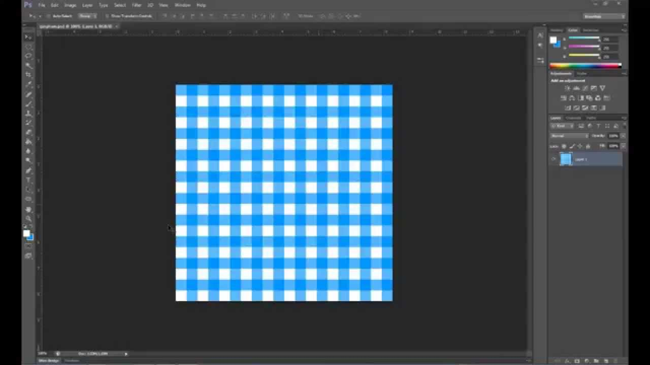 How to make a Gingham Pattern in Photoshop - YouTube