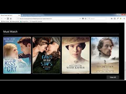 How To Create A Movie Trailer Site Using Html,css,jquery Part 2