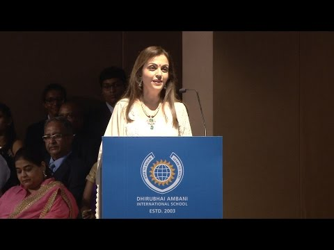 Nita Ambani Talks at DAIS GC2016, With Guest Shah Rukh Khan