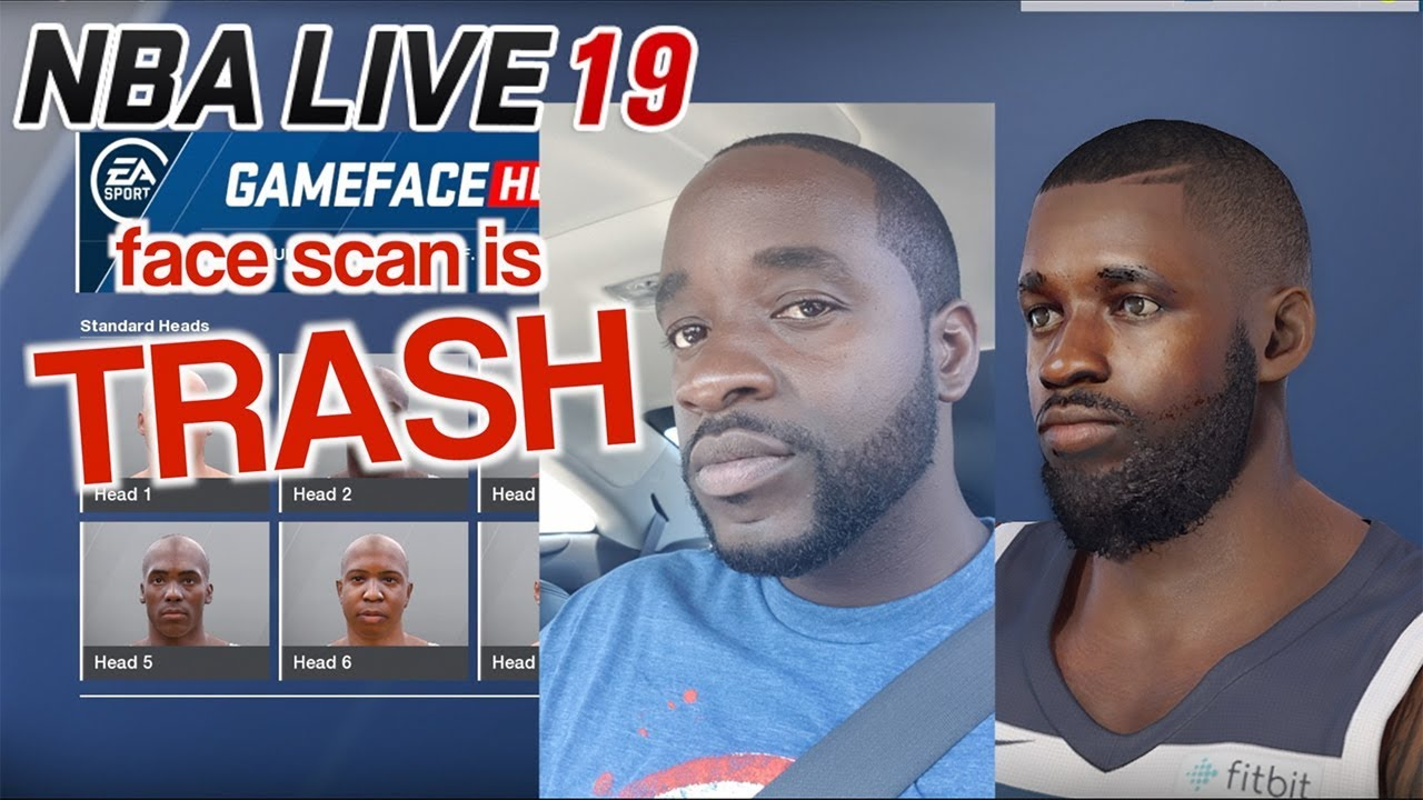 NBA Live 19 Face Scan Is TRASH Compared To 18