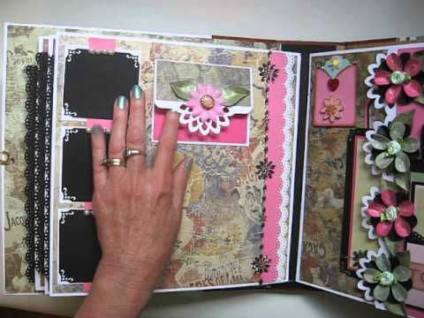 Handmade Large not mini 11x11 Scrapbook Album Tutorial Available  YouTube