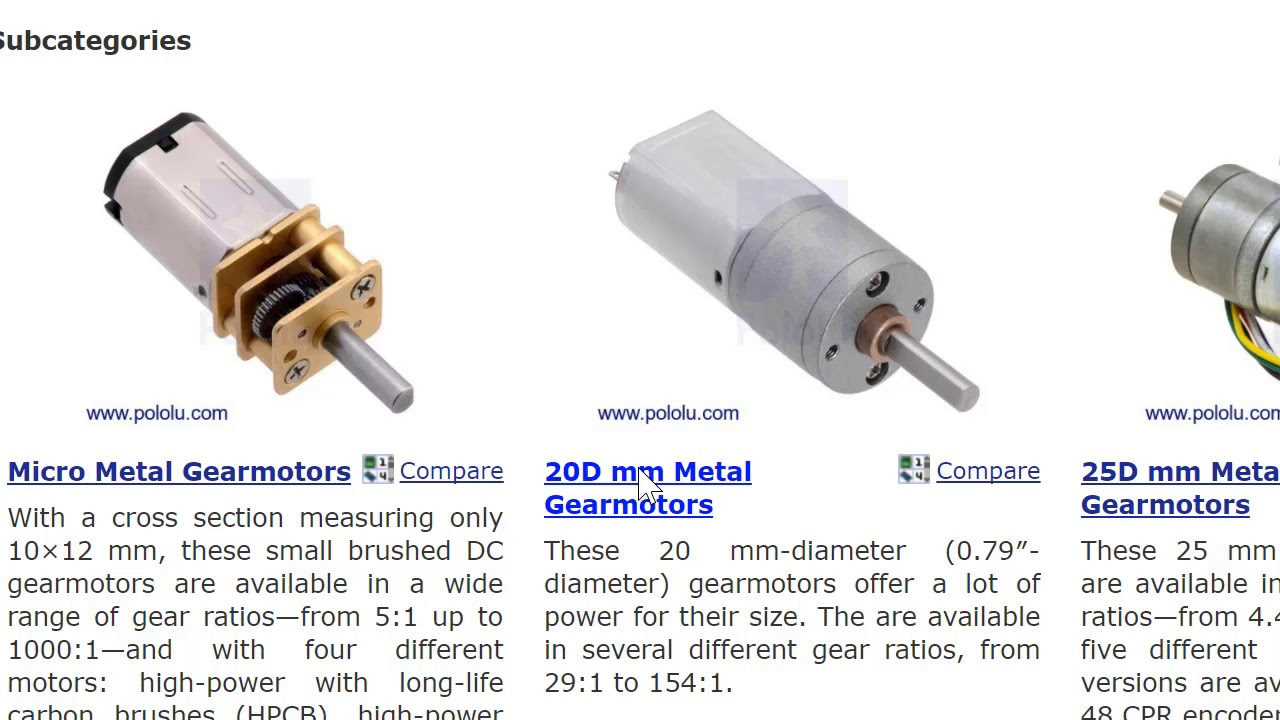 Robogrok Robotics 1 DC Motors Torque and Speed