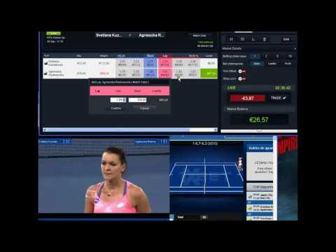 €114+ Profit Trading Betfair Tennis Kuznetsova S - Radwanska A...€114+Profit