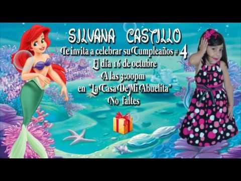Invitaciones De Cumpleanos La Sirenita